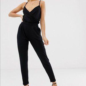 ASOS Surplice Slim Cuffed Jumpsuit Size 6